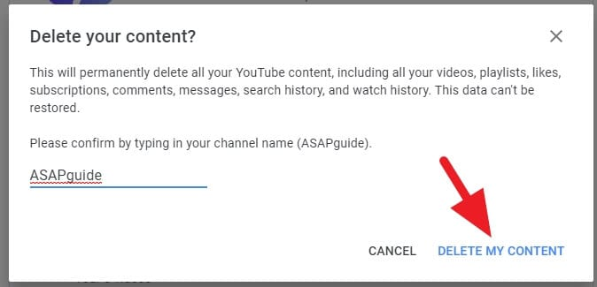 Delete my content 1 - How to Delete Youtube Channel Without the Main Account 17