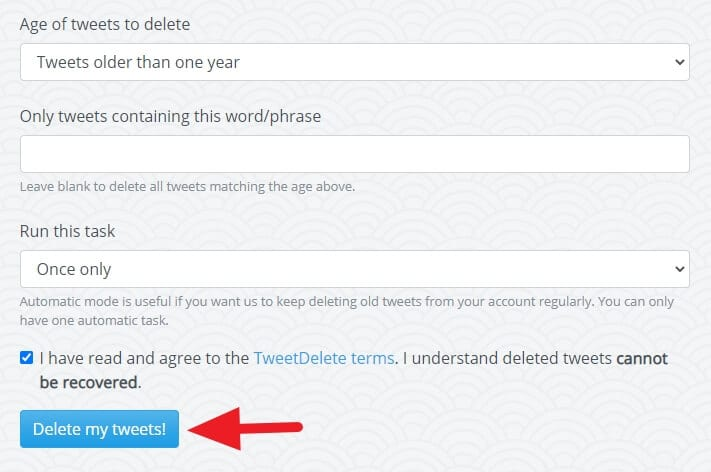 Delete my tweets - How to Delete All Your Tweets Instantly 9