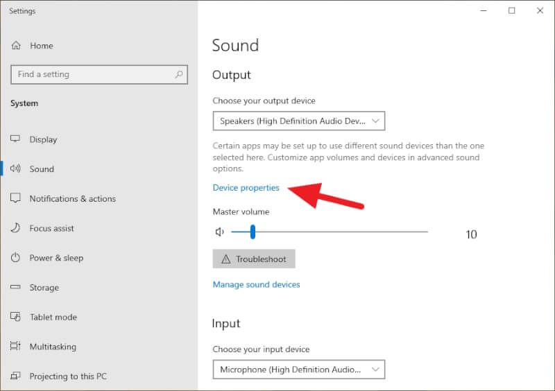 Device properties - How to Enhance Bass Quality in Windows 10 7