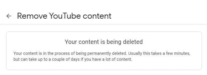 your content is being deleted - How to Delete Youtube Channel Without the Main Account 19
