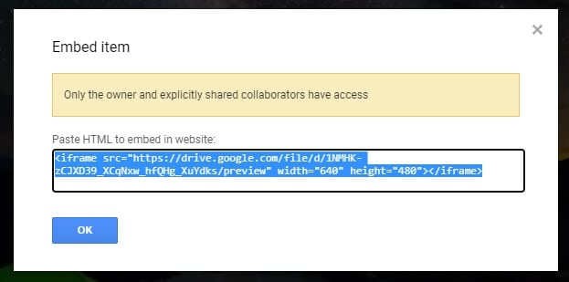 Embed code - How to Embed Video from Google Drive 13