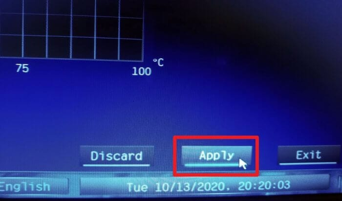 Apply settings - How to Fix Case Fans Speed Doesn't Adjust Automatically 11