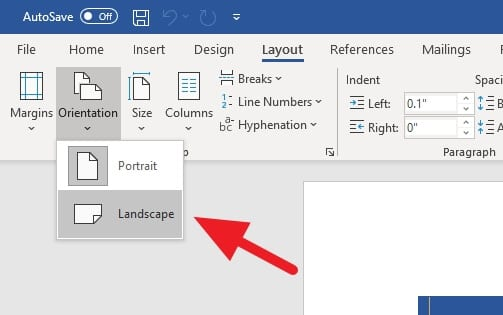 Landscape - How to Make Microsoft Word Document to Landscape 7