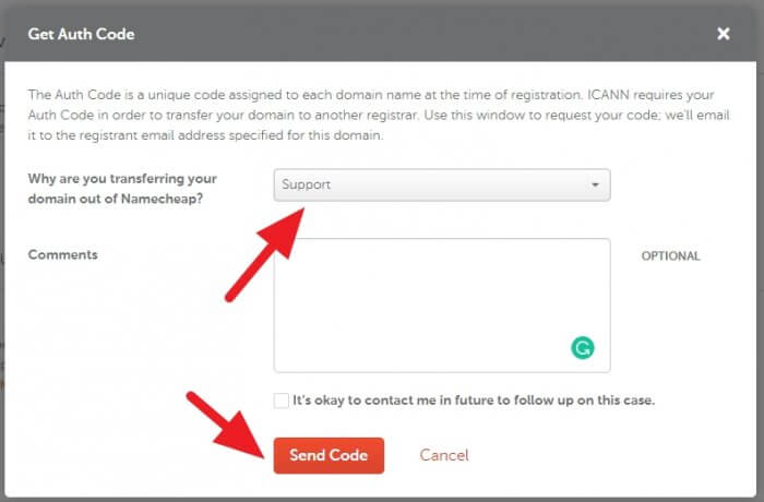 Send code - How to Get EPP Code on Namecheap to Transfer Domain 15