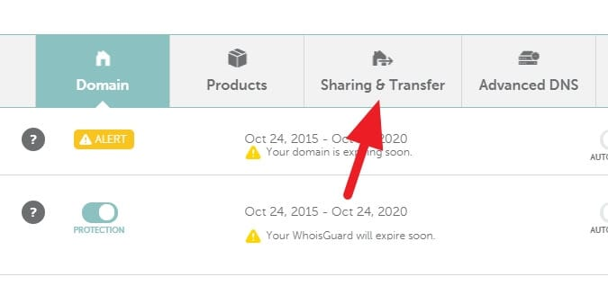 Sharing and Transfer - How to Get EPP Code on Namecheap to Transfer Domain 3