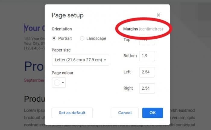 Centimetres - How to Switch Between Imperial to Metric on Google Docs 15