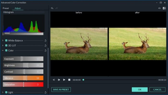 Color 1 - How to Color Grading in Filmora: Beginner's Guide 13