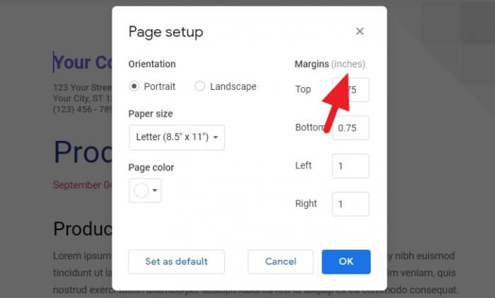 Inches Google Docs - How to Switch Between Imperial to Metric on Google Docs 3