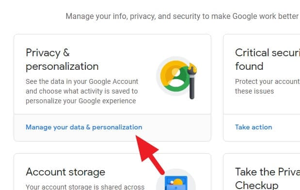 Manage your data and personalization - How to Switch Between Imperial to Metric on Google Docs 5