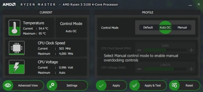 Ryzen Master Auto OC - 5 Tips to Fix FPS Drop That Plagued When Playing PC Games 7