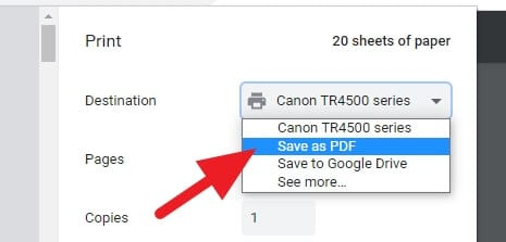 Save as PDF - How to Extract Certain Pages from PDF Using Google Chrome 3