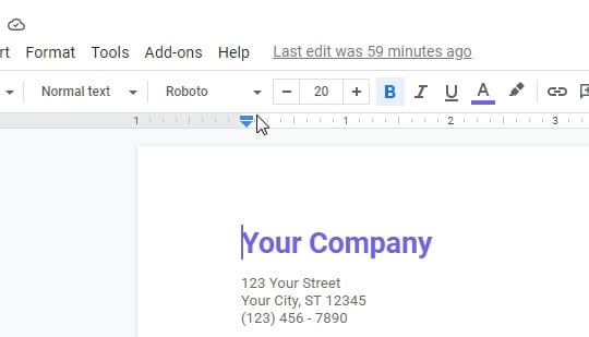 Slide to left or right - How to Change Margins In Google Docs 3