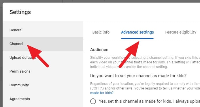 Channel advanced settings - How to Hide Subscriber Count on Your Youtube Channel 9