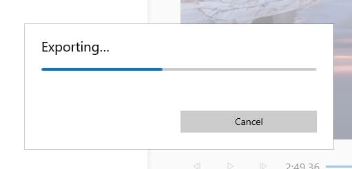 Exporting 1 - How to Rotate a Video in Windows 10 Video Editor 25