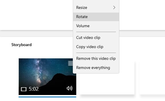 Rotate - How to Rotate a Video in Windows 10 Video Editor 15