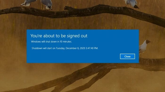 """windows will shutdown in 10 minutes - How to Cancel """"Windows will shutdown in 10 minutes"""" 3"""