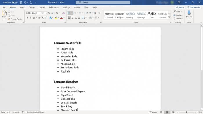 Bullet list Word - How to Make Bullet Points List in Ms. Word Side By Side 5