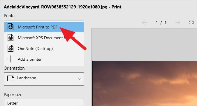 Microsoft Print to PDF - How to Save a Picture as a PDF Using Microsoft Photos 9