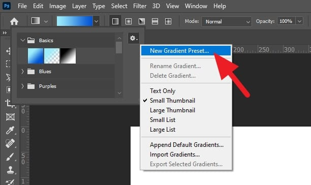 New Gradient Preset... - How to Make Gradient More Than Two Colors in Photoshop 7