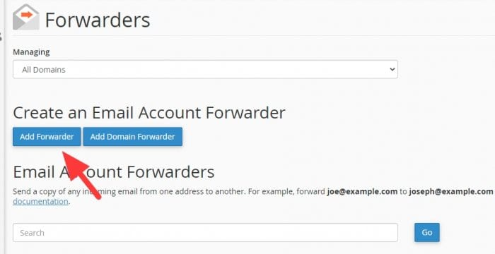 Add forwarder - How to Auto Forward Email from Webmail to Gmail 7