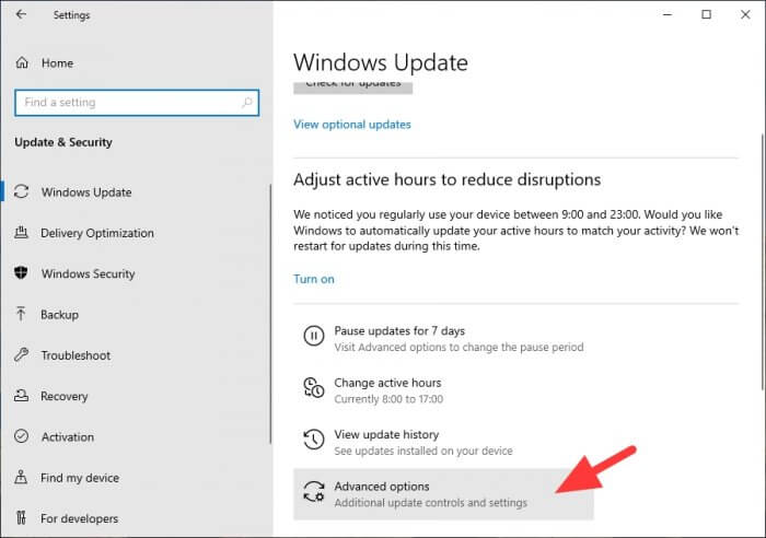 Advanced options - How to Disable Windows Update Permanently or Temporarily 19