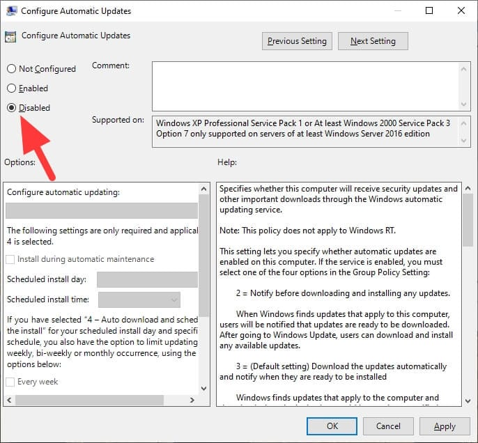 Disabled auto update - How to Disable Windows Update Permanently or Temporarily 9