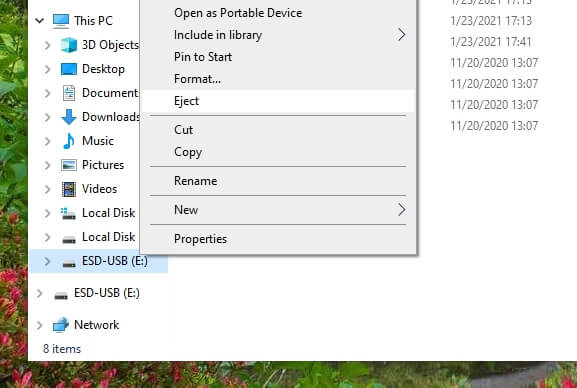 Eject ESD - How to Make Windows 10 Bootable Flash Drive Without 3rd-Party App 25