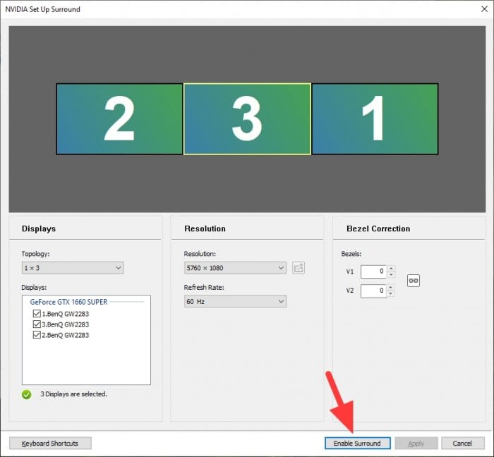 Enable Surround - How to Setup NVIDIA Surround for Triple Monitor Gaming 11
