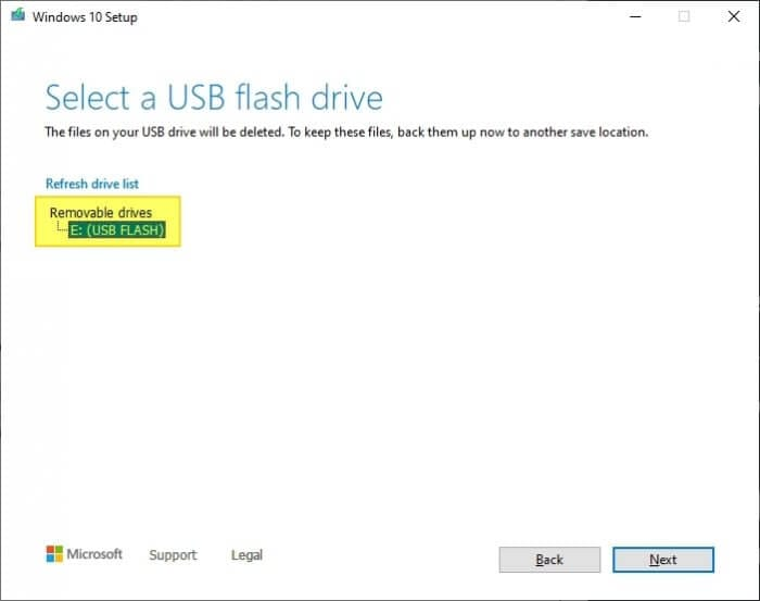 Select USB - How to Make Windows 10 Bootable Flash Drive Without 3rd-Party App 19