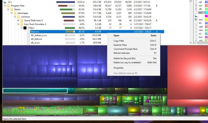WinDirStat delete - How to Quickly Find The Largest Files on Windows 10 3