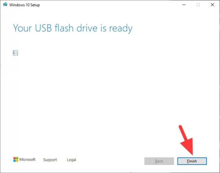 Your USB flash drive is ready - How to Make Windows 10 Bootable Flash Drive Without 3rd-Party App 23