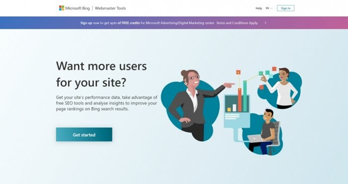 Bing Webmaster Tools homepage - How to Add a Website to Bing Webmaster Tools 5