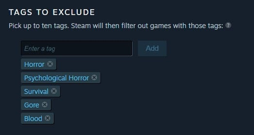 Exclude tags Steam - How to Block Specific Tags on Steam from Appearing 3