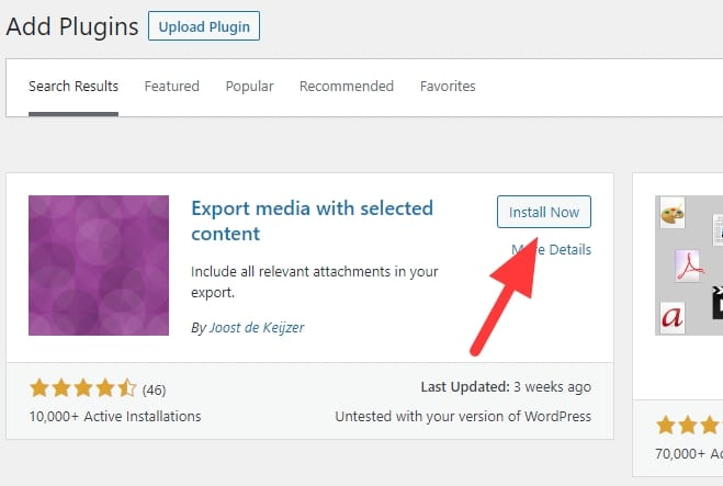Export media with selected content - How to Import WordPress Posts with Featured Images & Attachments 5