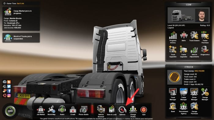 Options 4 - How to Disable Wind Noise Sound in ETS2 7