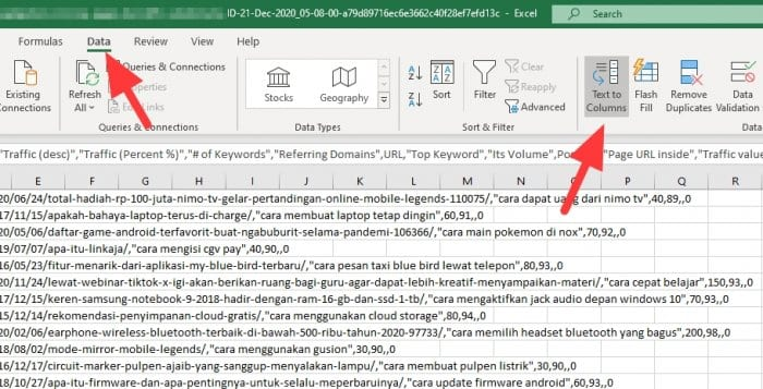 text to columns - How to Convert Comma-Separated Text Into Rows in Ms. Excel 9