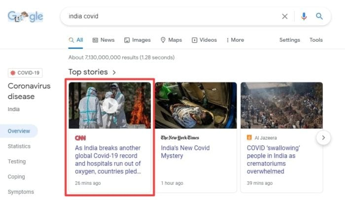 cnn ind - How to Block Certain Websites From Google Search Results 21