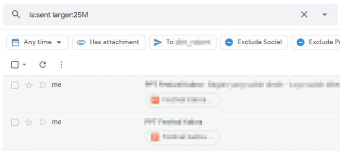 larger than 25 mb - How to Instantly Find Large Emails in Gmail and Delete Them 13