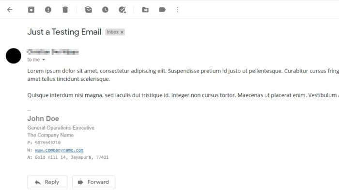 signature in email - How to Make a Signature at the End of Emails in Gmail 5