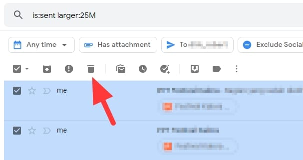 trash folder - How to Instantly Find Large Emails in Gmail and Delete Them 15