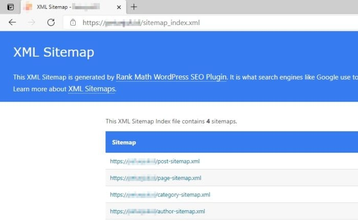 xml sitemap - How to Find How Many Articles/Pages on a Website 7