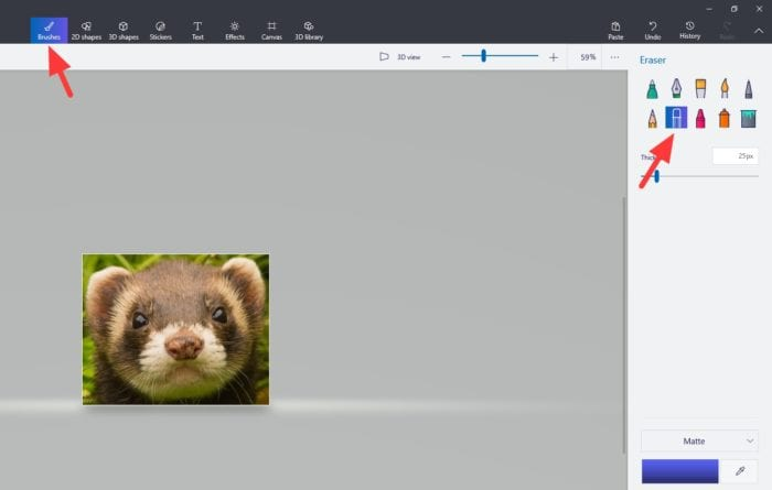 brushes - How to Make Transparent Background in Paint 3D 15
