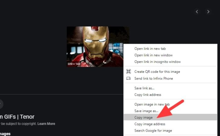 copy image - How to Copy & Paste Animated GIFs from the Internet 9