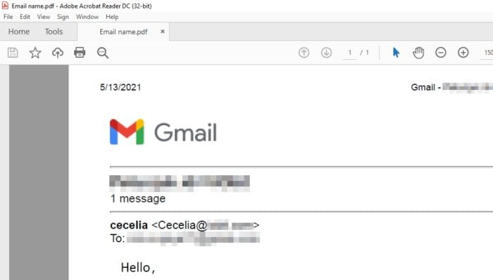 email in pdf - How to Download Gmail Messages as PDF to Your Computer 3