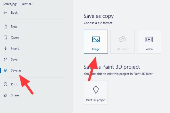 save as image 1 - How to Make Transparent Background in Paint 3D 21