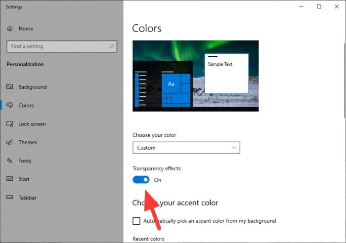 transparency effects - How to Make Windows 10 Taskbar Look Transparent Clear 9