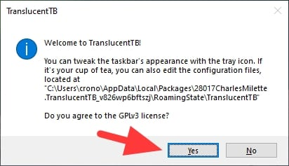 yes 1 - How to Make Windows 10 Taskbar Look Transparent Clear 21