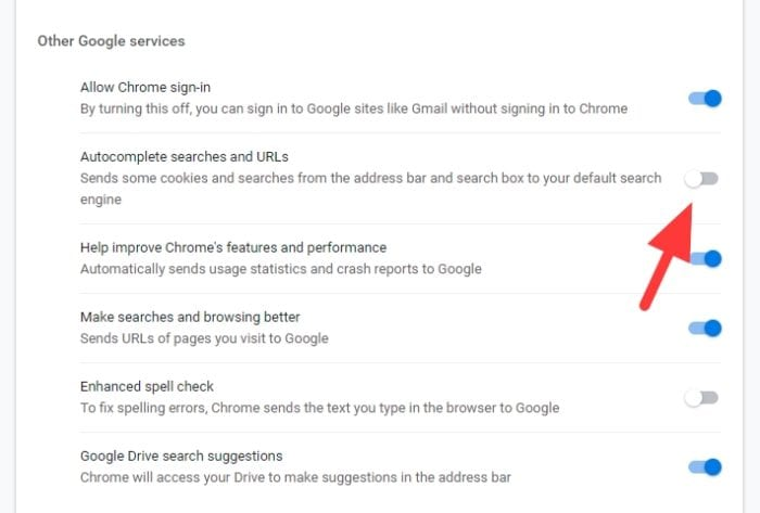 autocomplete searches and URLs - How to Disable Autocomplete Suggestions from Chrome 19