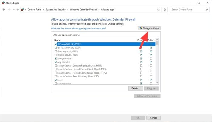 change settings - How to Block or Unblock a Program in Windows Defender Firewall 13