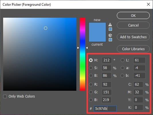 color code - How to Copy a Color from a Picture in Photoshop 15